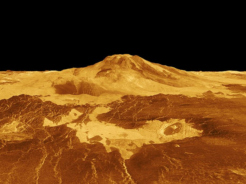 Cool on planet venus surface